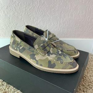 Robert Wayne Camo Penny Loafer Leather Suede